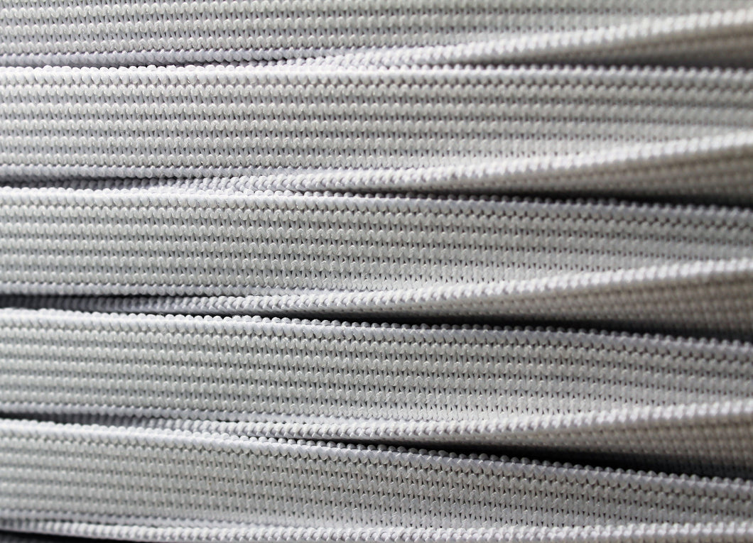 10mm White Elastic Knitted - 100m