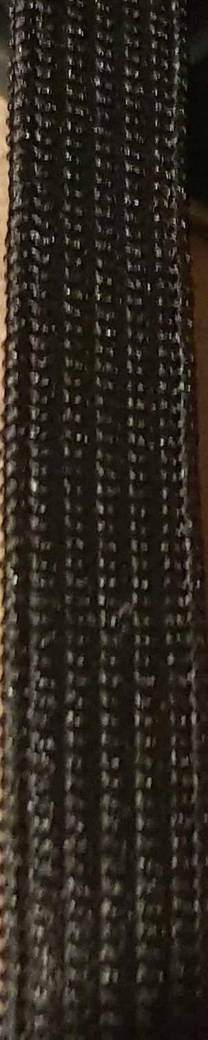8mm Black Elastic Knitted/Weaved - 50m