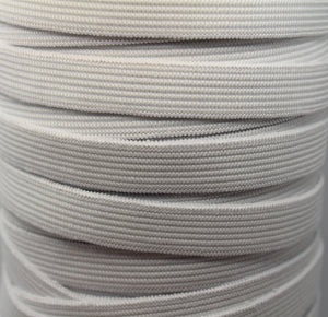 13mm White Elastic Knitted - 100m