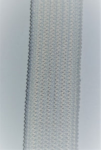 13mm White Elastic Knitted 100m