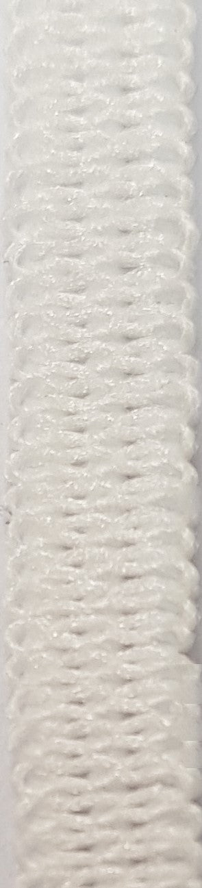 4mm White Elastic Knitted - 1m