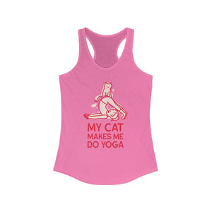 My Cat Makes Me Do Yoga Tank Top