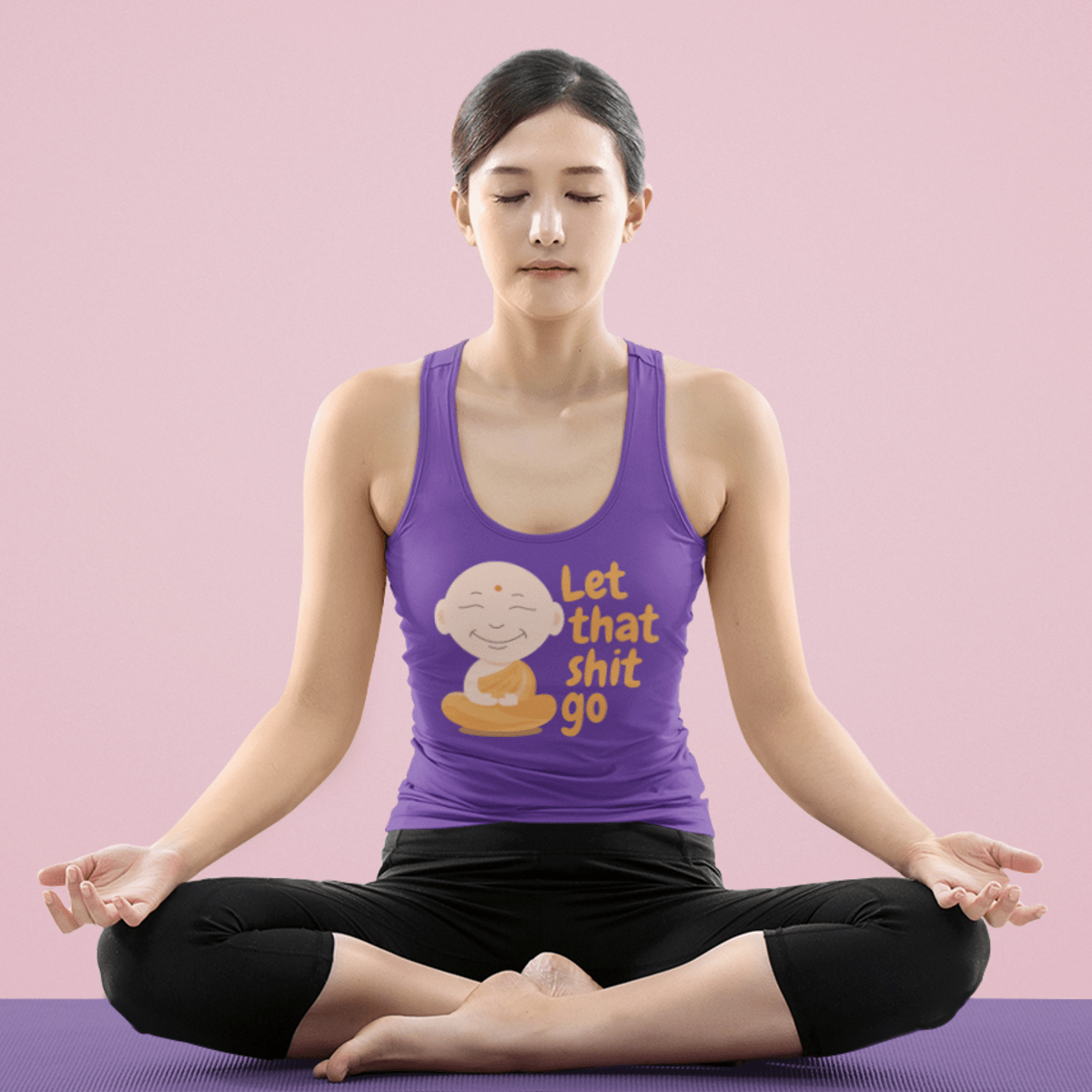Let That Shit Go Tank Top - YogaCentric.life