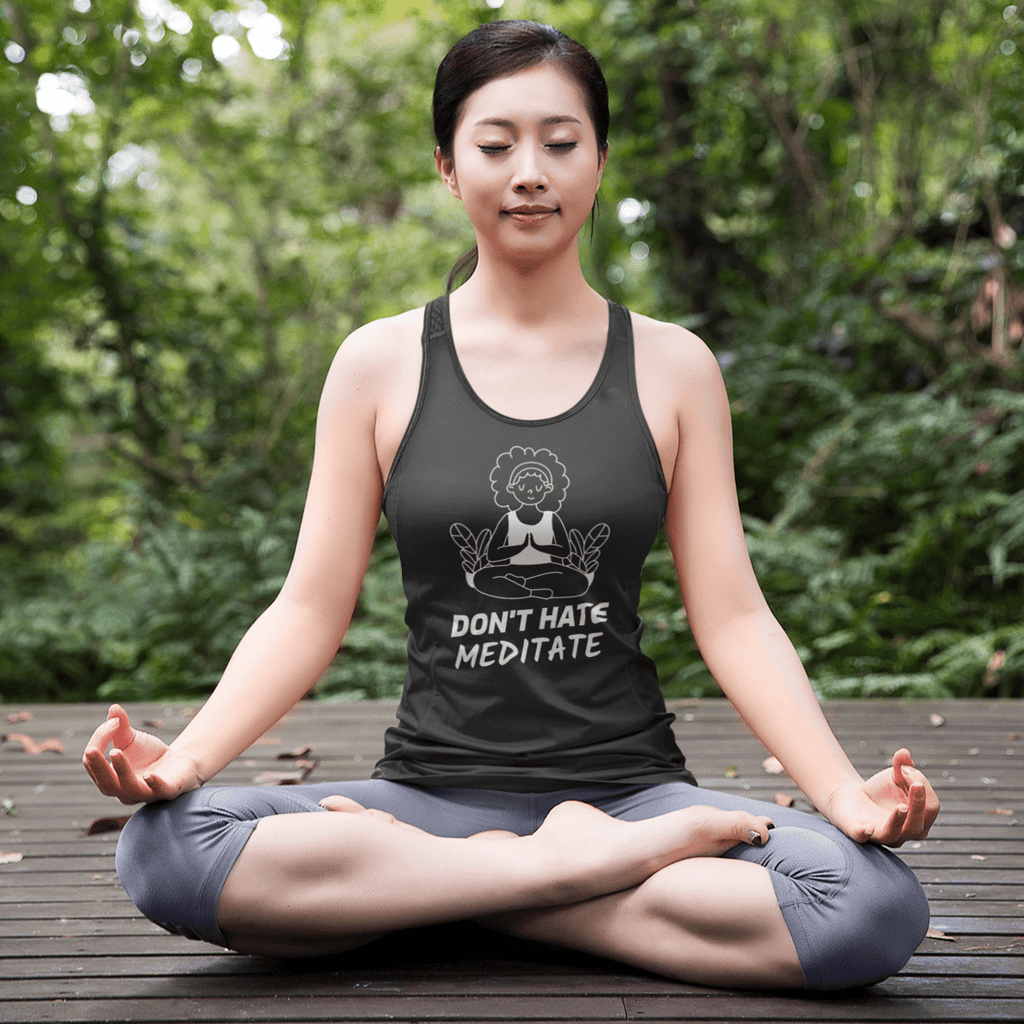 Don't Hate Meditate Tank Top - YogaCentric.life