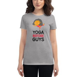 Yoga Before Guys T-shirt - YogaCentric.life