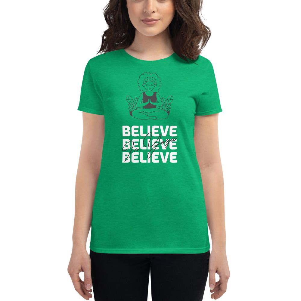 Believe In Yoga T-shirt - YogaCentric.life