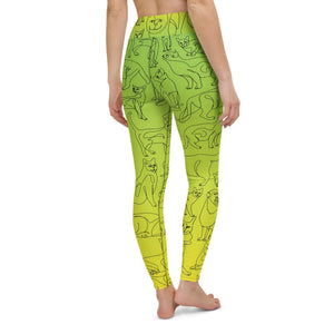 Curious Cats Yoga Leggings - YogaCentric.life