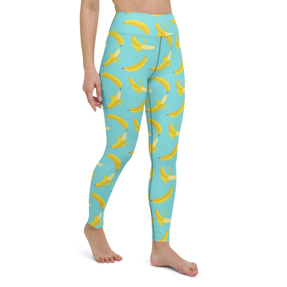 Blissful Bananas Yoga Leggings - YogaCentric.life