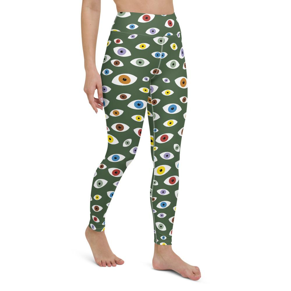Energetic Eyes Yoga Leggings - YogaCentric.life