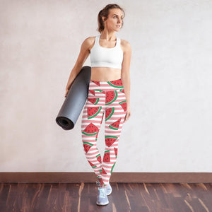 Wondrous Watermelons Yoga Leggings - YogaCentric.life
