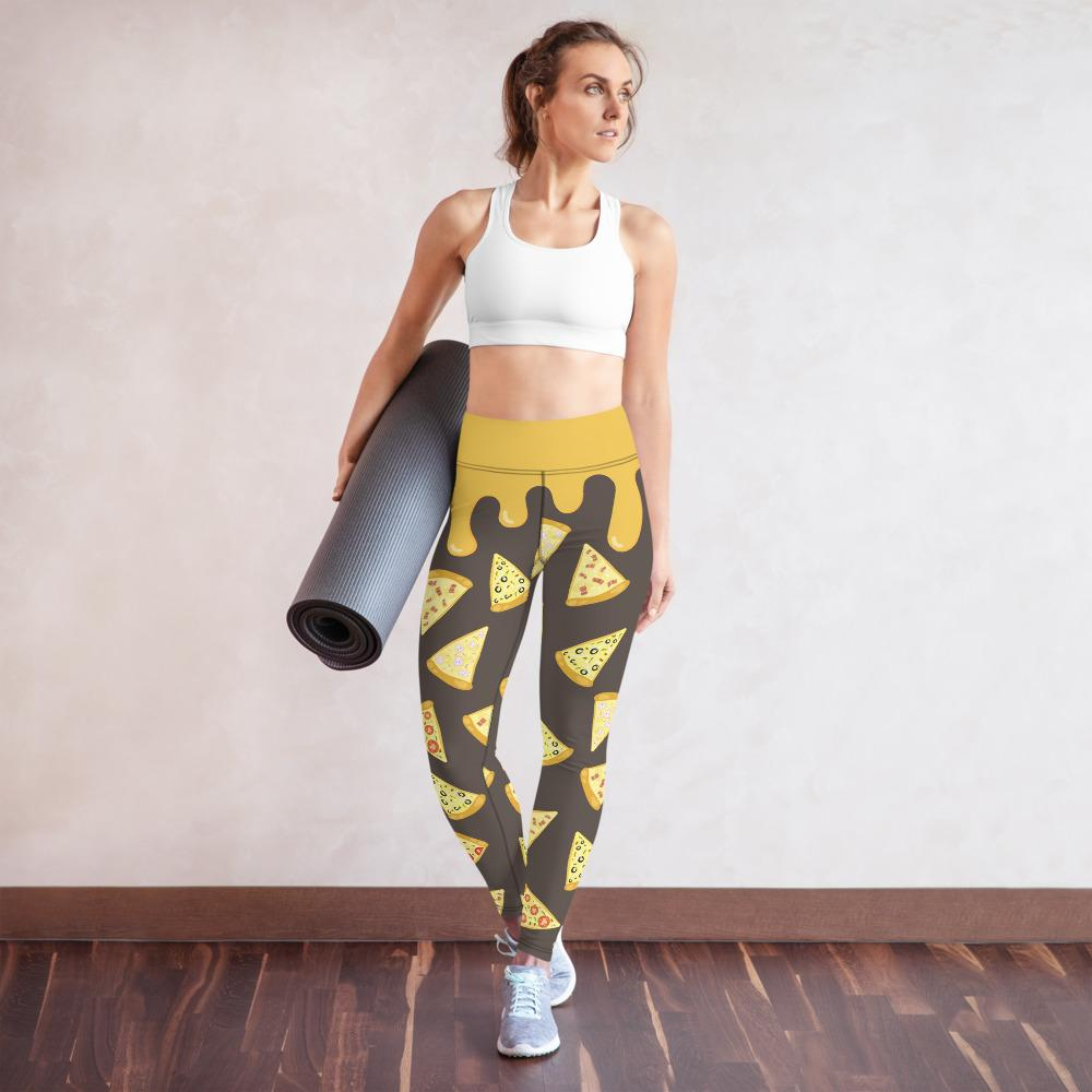 Peppy Pizzas Yoga Leggings - YogaCentric.life