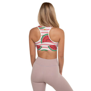 Wondrous Watermelons Padded Sports Bra - YogaCentric.life