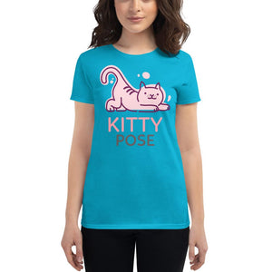 Kitty Pose T-shirt - YogaCentric.life
