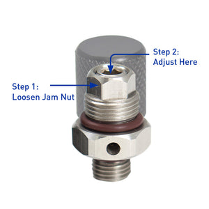 1st Stage Overpressure Relief Valve (Adjustable / Rebuildable)