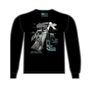 Bay-Tech Industries Offshore Platform Long Sleeve T-Shirt - Black