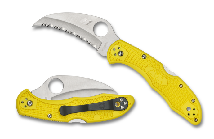 Spyderco Tasman Salt 2 (Serrated Edge/Yellow) - C106SYL2