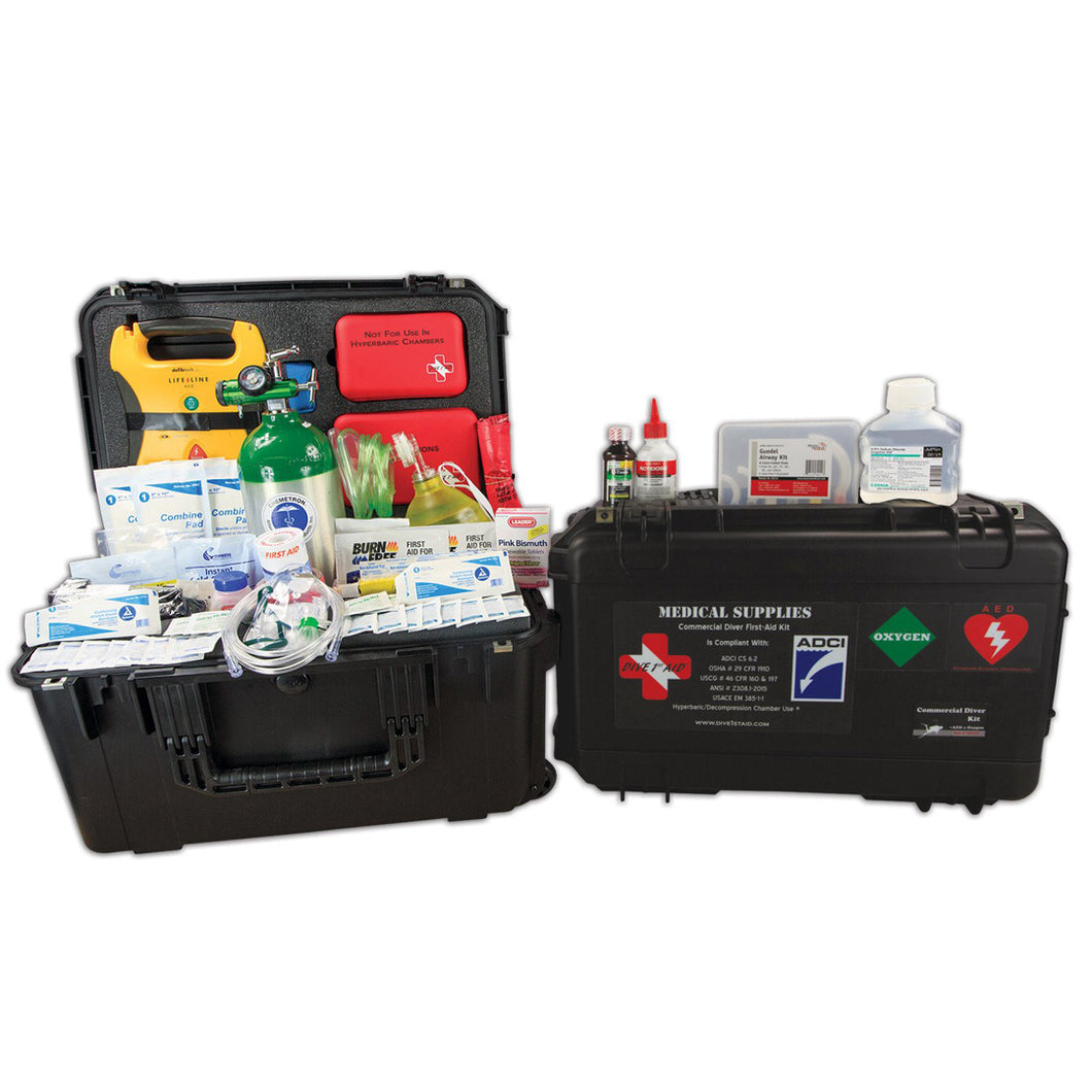 Dive 1st Aid FAK451 Commercial Diver Kit with O2 and AED