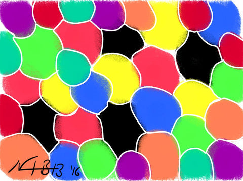 4 BALLS Per colour_01 Digital Art, download it, resize it