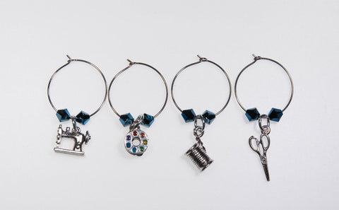 Wine Charms for Wine Glasses and Scissor Fobs