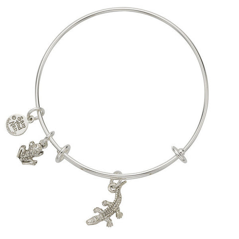 Alligator and Frog Charm Bangle Bracelet - SamandNan