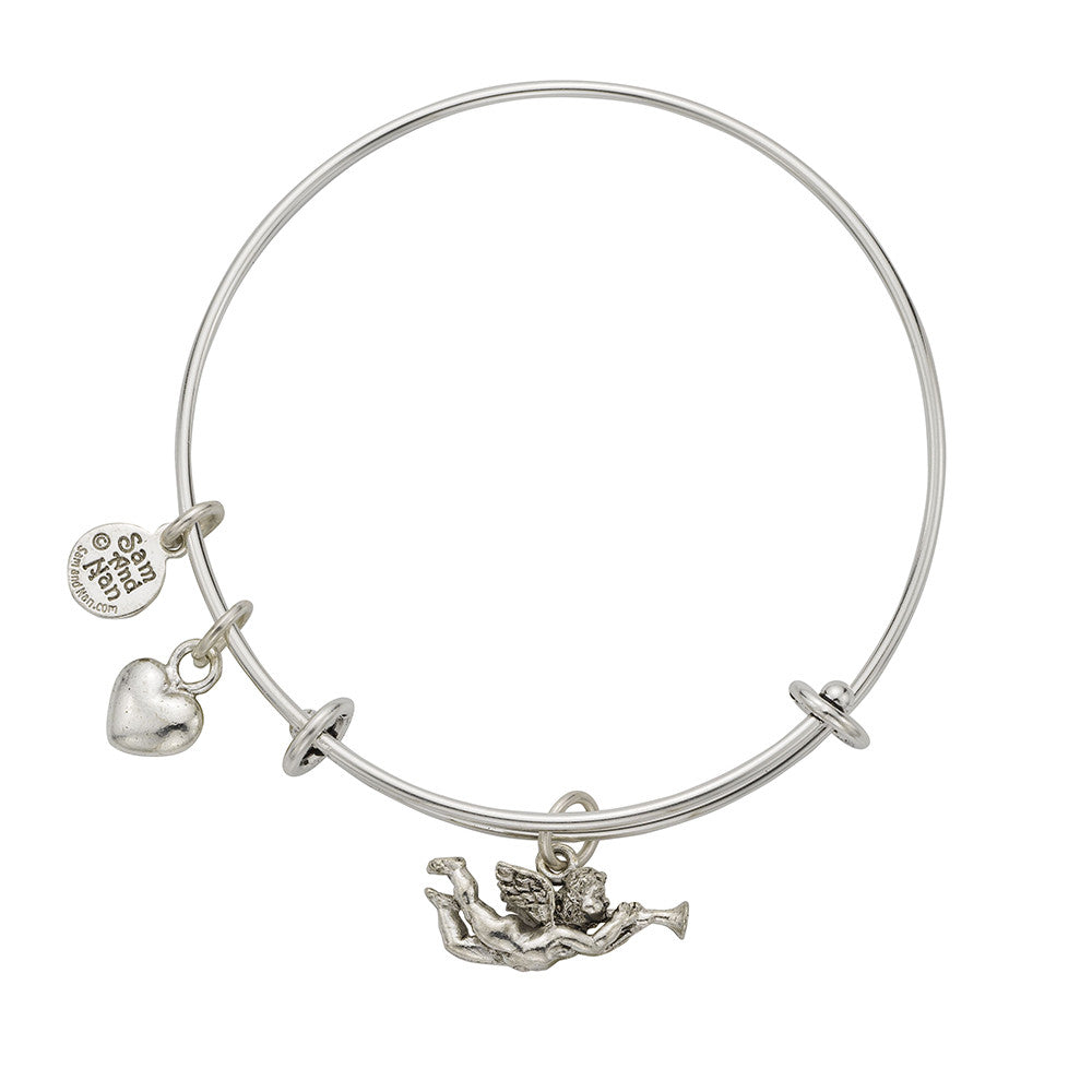 Angel Gabriel Charm Bangle Bracelet - SamandNan