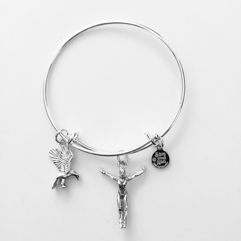 Swim Charm Bangle Bracelet - SamandNan