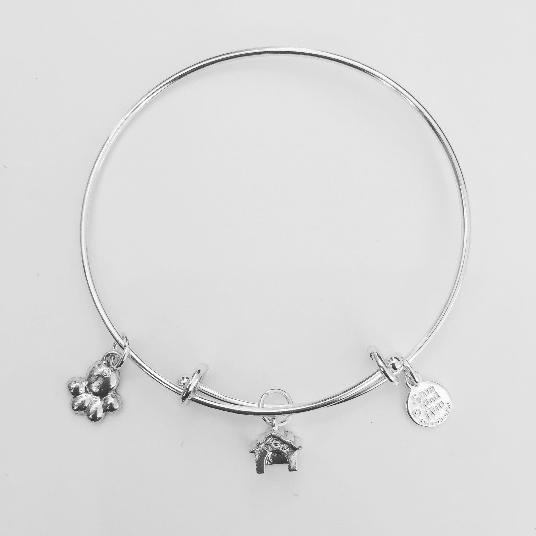 Paw Dog House Bangle Bracelet - SamandNan