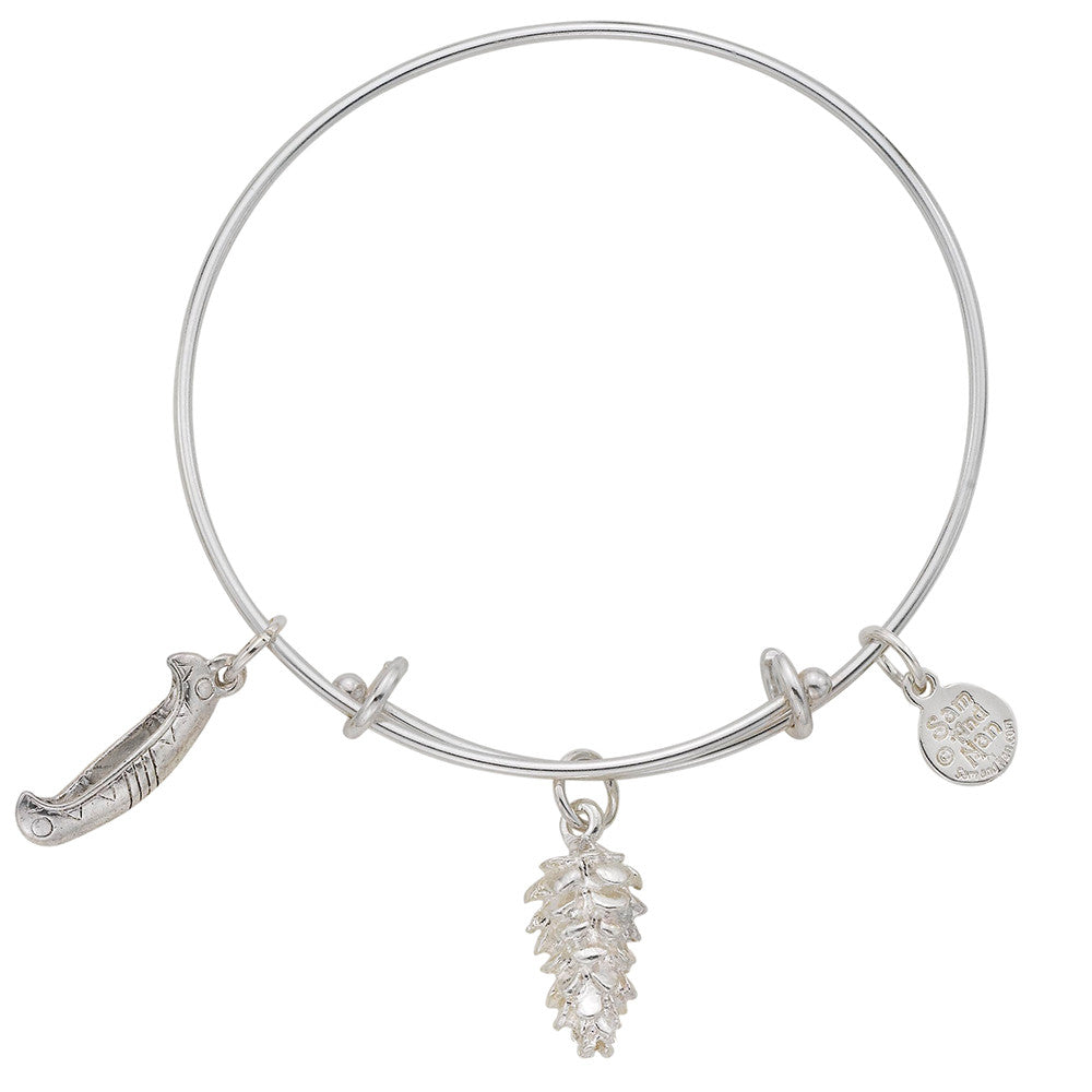 Pinecone Canoe Bangle Bracelet - SamandNan