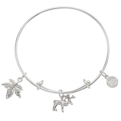 Moose Maple Leaf Bangle Bracelet - SamandNan