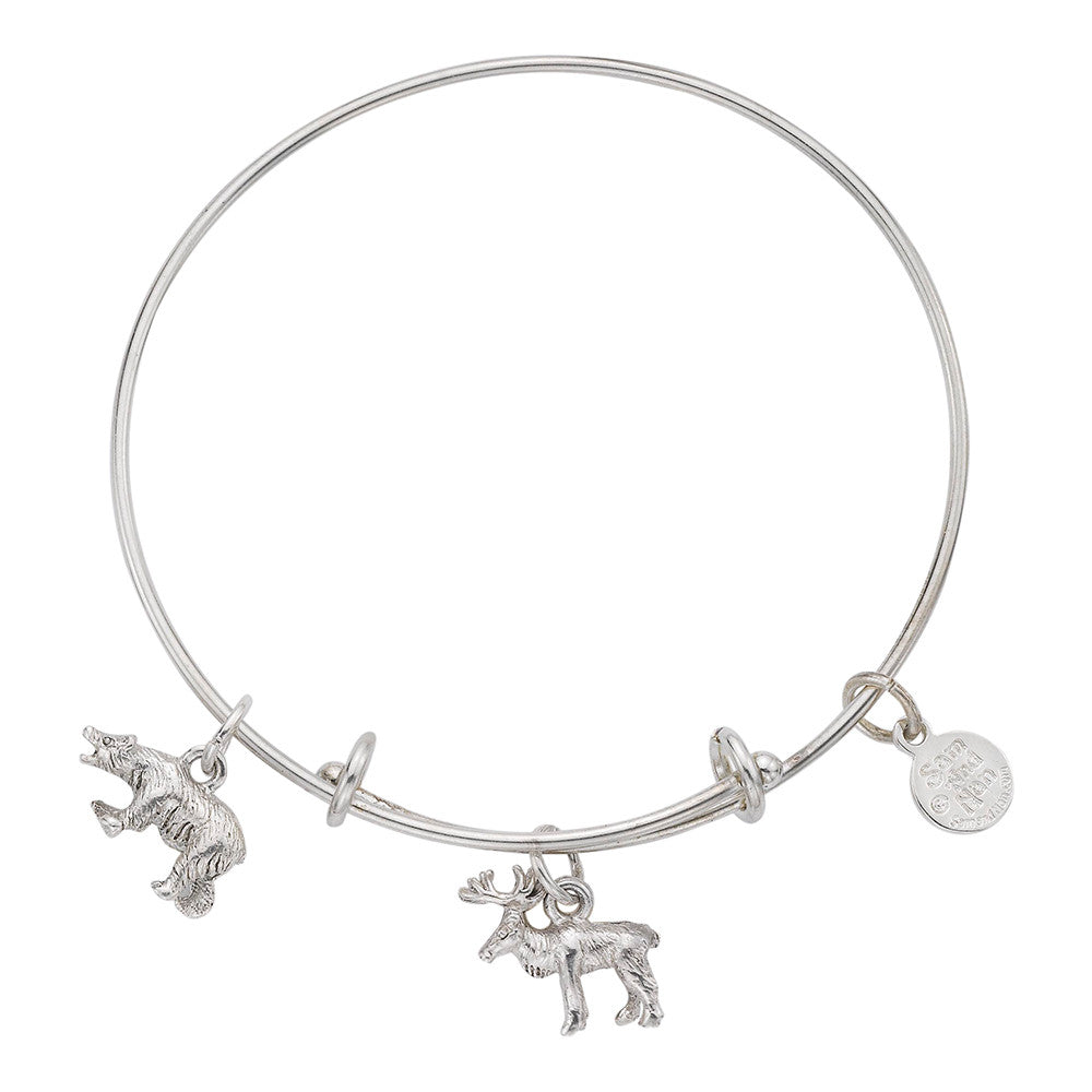 Moose Bear Bangle Bracelet - SamandNan