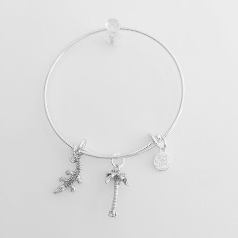 Palm Tree Alligator Bangle Bracelet - SamandNan