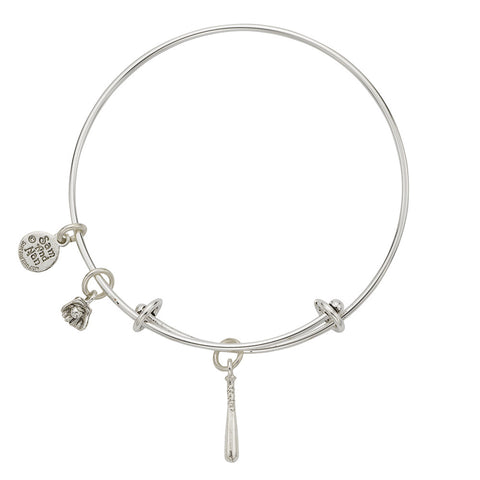 Baseball Bat Glove Charm Bangle Bracelet - SamandNan