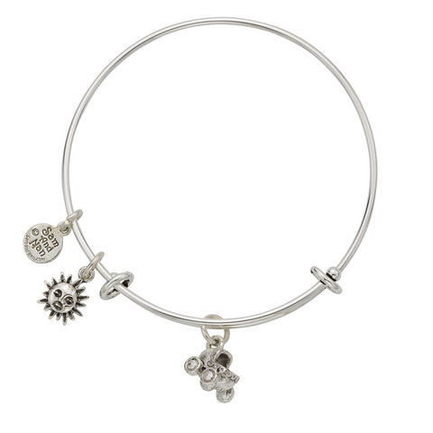 Bassinet Sun Charm Bangle Bracelet - SamandNan