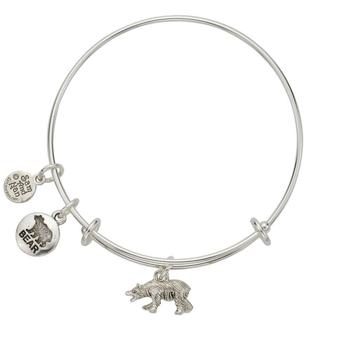 Bear Charm Bangle Bracelet - SamandNan