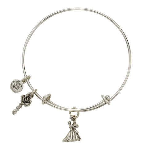 Beauty and Beast Charm Bangle Bracelet - SamandNan
