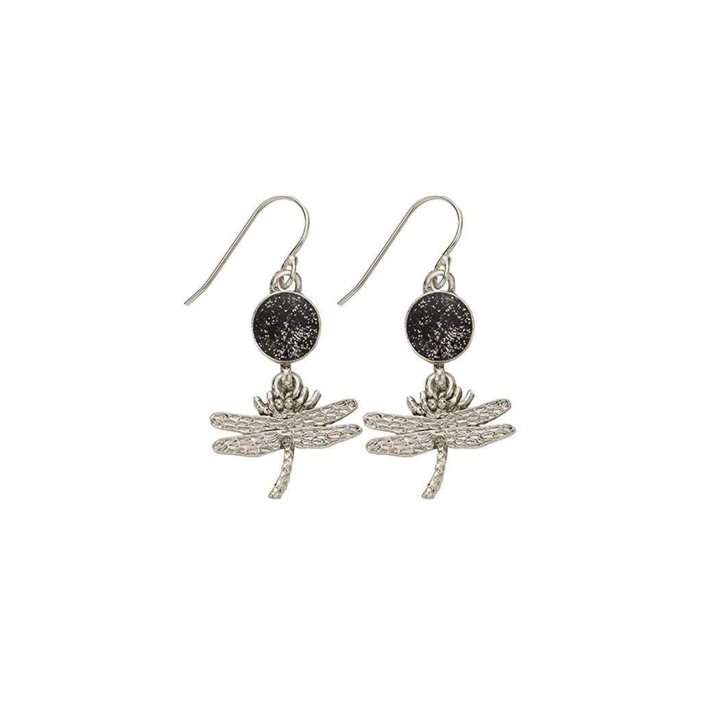 Black Dragonfly Earrings - SamandNan