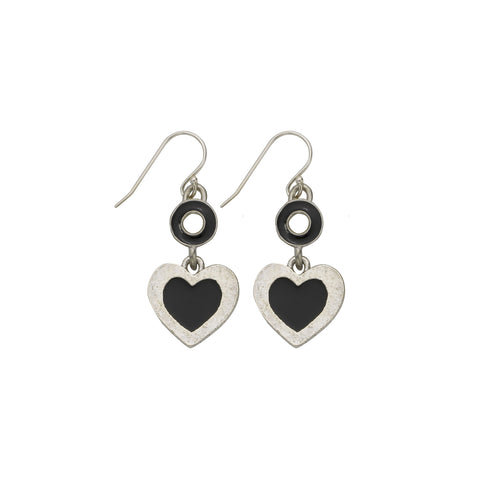 Heart Black Earrings - SamandNan