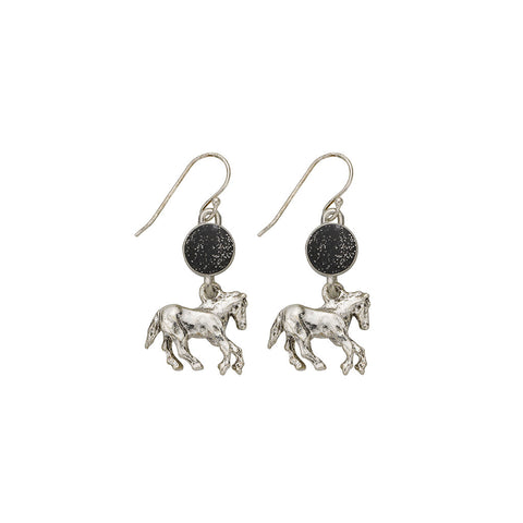 Black Horse Earrings - SamandNan
