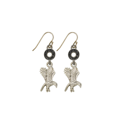 Black Flying Eagle Earrings - SamandNan