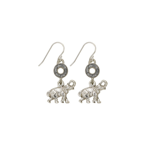 Black Open Cup Elephant Earrings - SamandNan