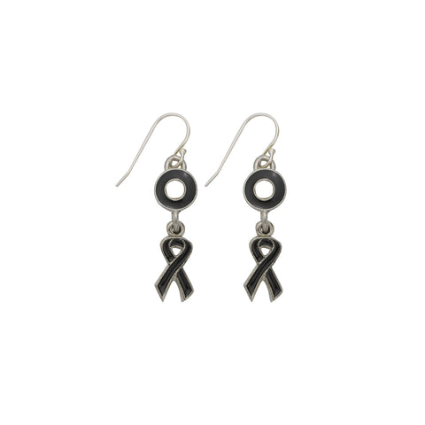 Melanoma Cancer Earrings Black - SamandNan