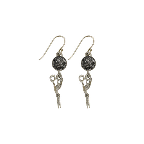Black Stork Earrings - SamandNan