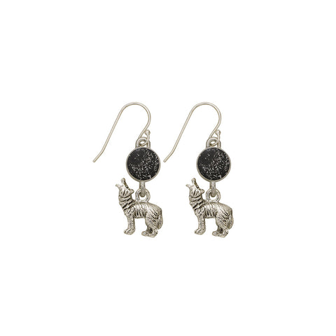 Black Wolf Earrings - SamandNan