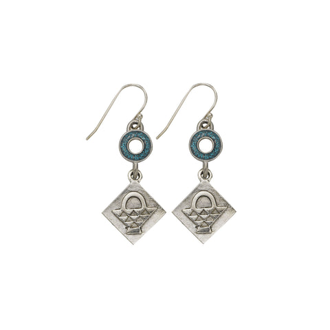 Blue Basket Earrings - SamandNan