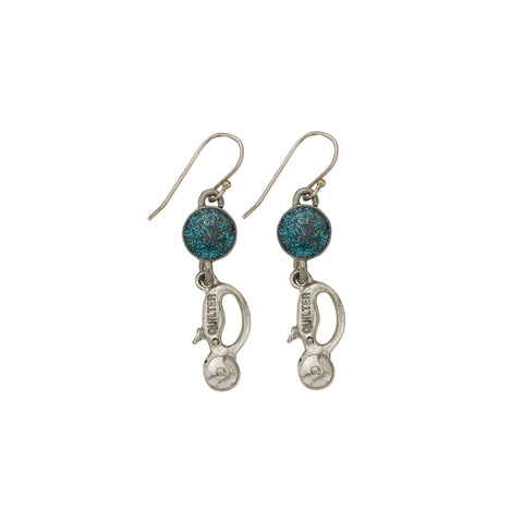 Blue Quilt Cutter Earrings - SamandNan