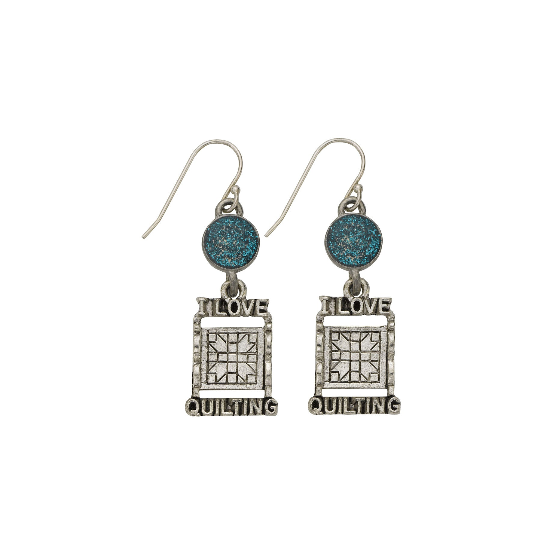 Blue Quilt Rack Earrings - SamandNan