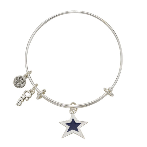 Blue Star Cheer Bangle Bracelet - SamandNan