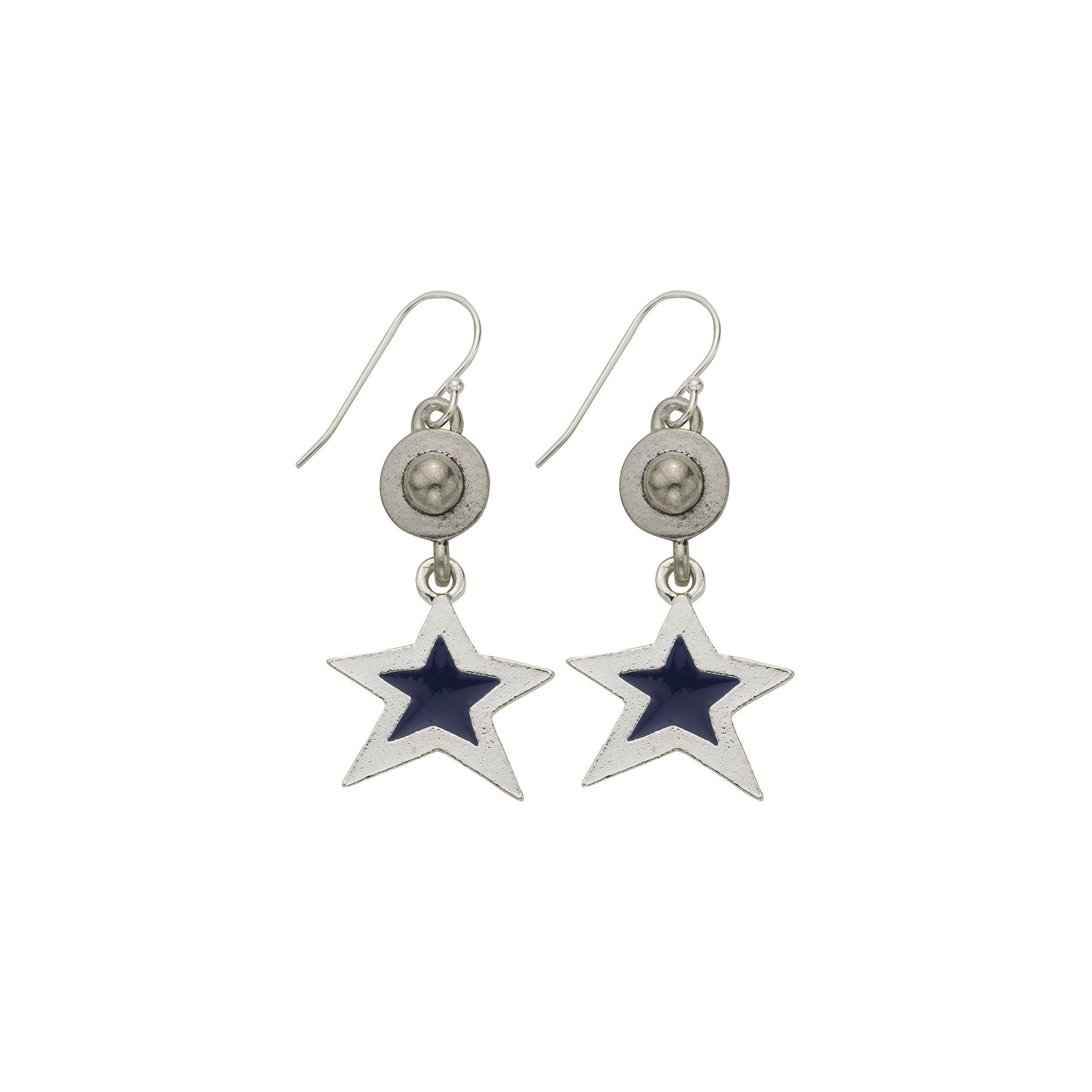 Blue Star Dome Earring - SamandNan