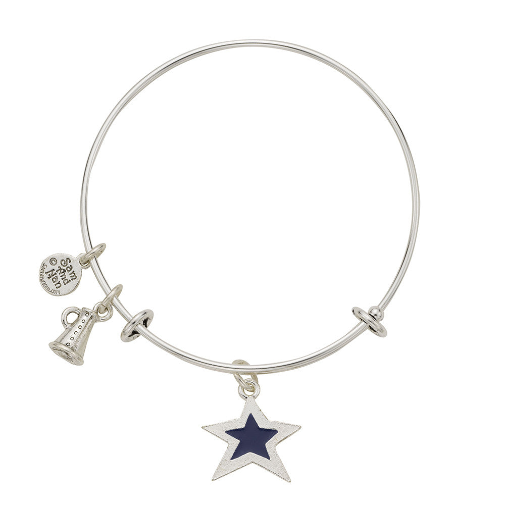 Blue Star Megaphone Bangle Bracelet - SamandNan
