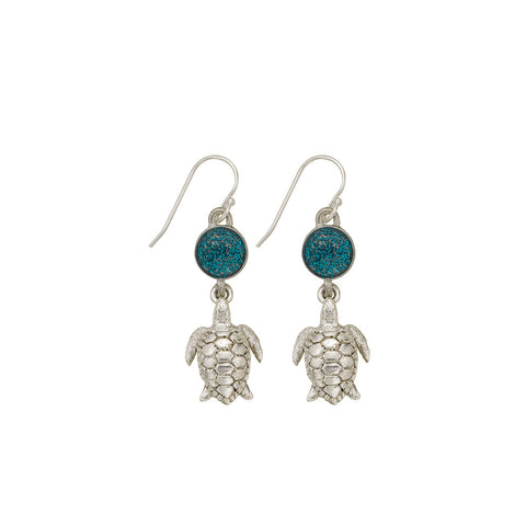 Blue Sea Turtle Earrings - SamandNan